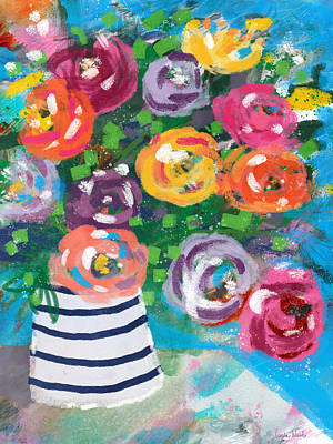 Mixed Media - Delightful Bouquet 6- Art By Linda Woods by Linda Woods