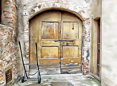 Photograph - Delivery Entrance Pienza by Dorothy Berry-Lound