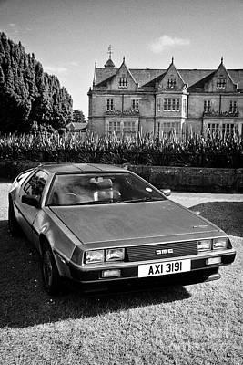 Photograph - Delorean Sports Car At A Modified Car Show In Bangor Northern Ireland by Joe Fox