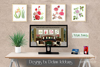 Digital Art - Delynn Addams Watercolor Painting Collection  by Delynn Addams