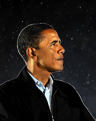Ohio Photograph - Democratic Presidential Nominee Barack by New York Daily News Archive