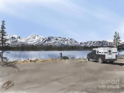 Digital Art - Denali Highway -- Photo Stop by Joel Deutsch