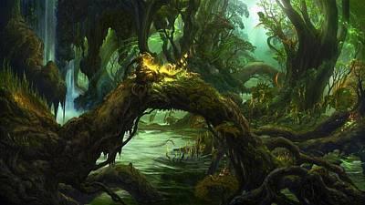 Photograph - Dense Swamp by Dawn Van Doorn