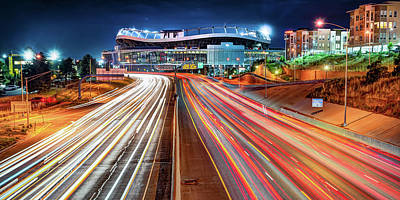 Royalty-Free and Rights-Managed Images - Denver Colorado Cityscape and Football Stadium Panorama by Gregory Ballos