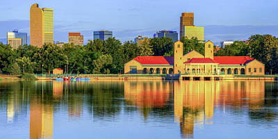 Royalty-Free and Rights-Managed Images - Denver Colorado Skyline Reflections - City Park Panorama by Gregory Ballos