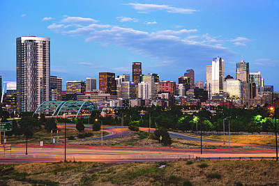 Photograph - Denver Skyline Morning View by Gregory Ballos