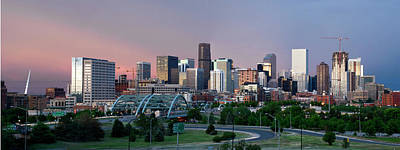 Denver Skyline Photograph - Denver Skyline Panorama by Diggersnoggin
