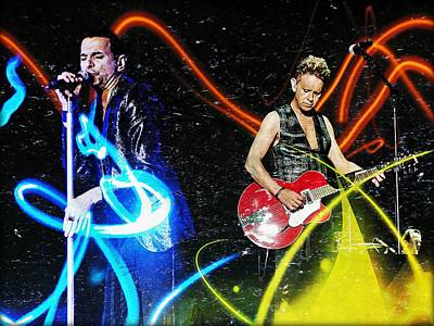 Digital Art - Depeche Mode by Mark Baranowski