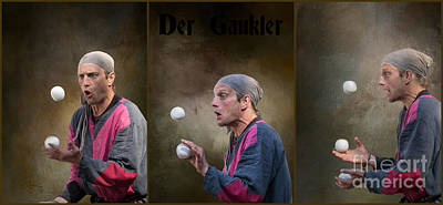 Mixed Media - Der Gaukler by Eva Lechner