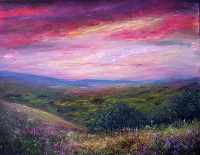 Derbyshire Skies Art Print by Ann Marie Bone