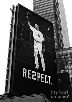 Photograph - Derek Jeter Re2pect Billboard II New York City by John Rizzuto