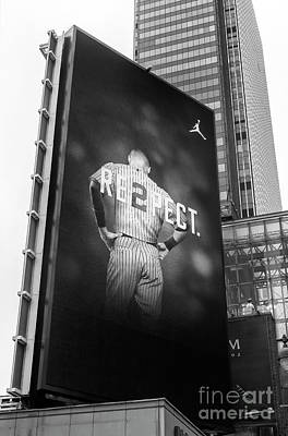 Photograph - Derek Jeter Re2pect Billboard New York City by John Rizzuto
