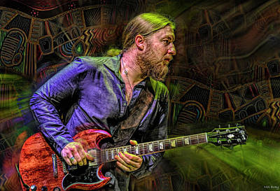 Recently Sold - Musicians Royalty Free Images - Derek Trucks Guitarist Royalty-Free Image by Mal Bray