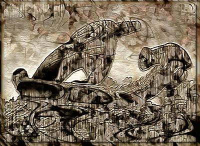 Digital Art - Derelict Spacecraft by Mario Carini