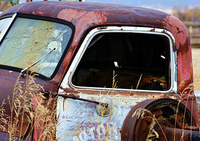Photograph - Derelict Truck In Weeds by Kae Cheatham