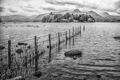 Photograph - Derwentwater Fence by Christopher Rees
