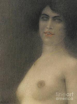 Pastel - Des Cheveux Noirs, 1914 by Fernand Khnopff
