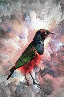 Desaturated Starling Art Print
