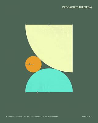 Formula Wall Art - Digital Art - Descartes' Theorem 2 by Jazzberry Blue