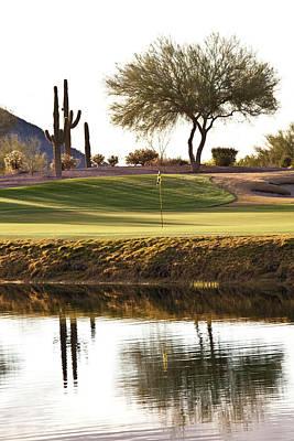 Photograph - Desert Golf Hole In Phoenix Area by Imaginegolf