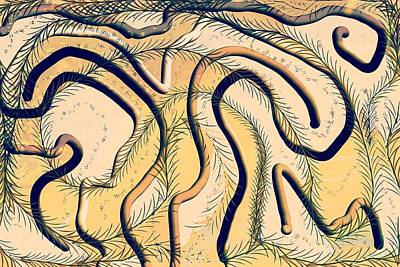 Digital Art - Desert Map by Samuel Pye