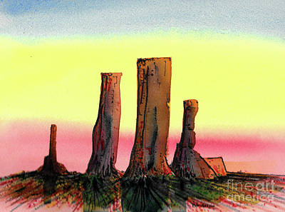 Painting - Desert Monuments by Terry Banderas