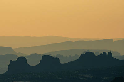Photograph - Desert Mountain Layers - Minimalism by Gregory Ballos