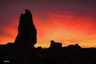 Photograph - Desert Sunset by Tim Kathka