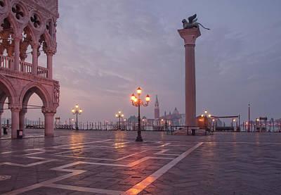 Deserted Piazza San Marco Before Sunrise Art Print by Tu Xa Ha Noi