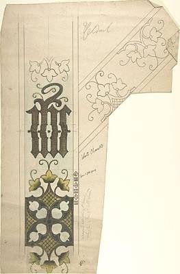 Katharine Hepburn - Design for a White Chasuble  Ernest Geldart British, London 1848-1929 by Ernest Geldart