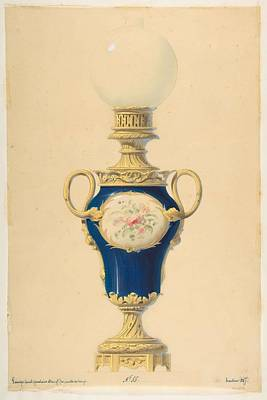 Kids Alphabet - Design for an Oil Lamp  Anonymous, French, 19th century by MotionAge Designs