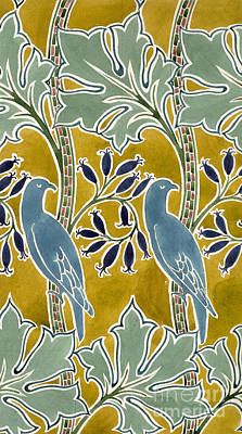 Drawing - Design For 'new Silk Cloth, May 1901  by Charles Francis Annesley Voysey