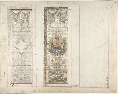 Wilderness Camping - Design for Stained Glass with Marine Motifs John Gregory Crace British, London 1809-1889 Dulwich by Motifs John Gregory Crace