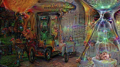 Digital Art - Designated Driver by Mike Butler