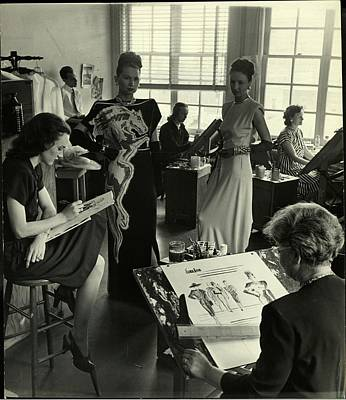 Photograph - Designers At Neiman Marcus Store In by Nina Leen