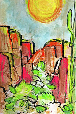 Painting - Desperation Canyon - Neon by Tonya Doughty