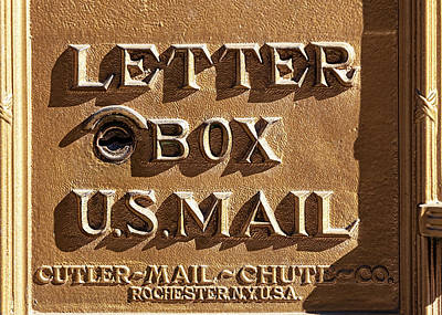 Photograph - Detail Brass Letter Box by Robert Ullmann