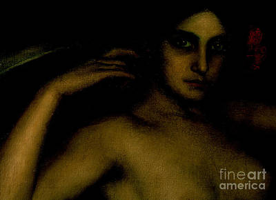 Painting - Detail From The Altarpiece Of Love by Julio Romero de Torres