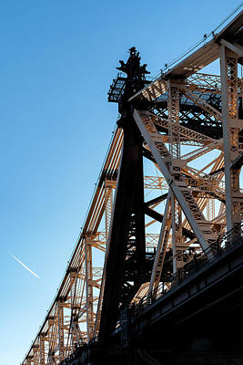 Photograph - Detail Of 59th Street Bridge And Contrail by Robert Ullmann