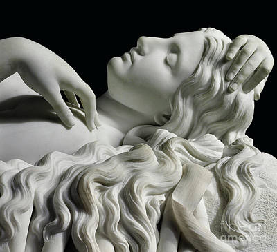 Sculpture - Detail Of A Life Size Figure Of Rhodopis On Plinth, 1862  by Charles Francis Fuller