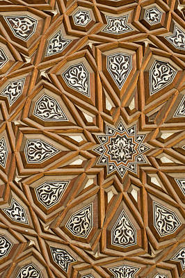 Photograph - Detail Of Decorated Door In Rifai Mosque by Ian Cumming