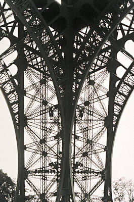 Photograph - Detail Of Eiffel Tower by Joe Mule