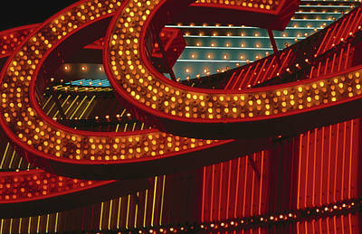 Photograph - Detail Of Neon Signs On Fremont Street by Rick Gerharter