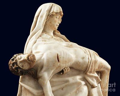 Sculpture - Detail Of Pieta by Gil de Siloe