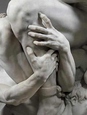 Sculpture - Detail Of Ugolino And His Sons By Carpeaux by Jean-baptiste Carpeaux
