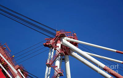 Photograph - Detail View Of Container Loading Crane by Yali Shi