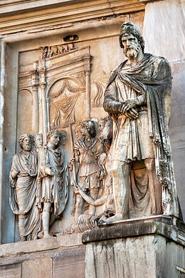 Photograph - Details Of The Arch Of Constantine by Fabrizio Troiani