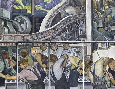 Painting - Detroit Industry, North Wall By Diego Rivera Detail by Diego Rivera