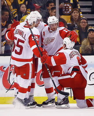 Photograph - Detroit Red Wings V Boston Bruins - by Jared Wickerham