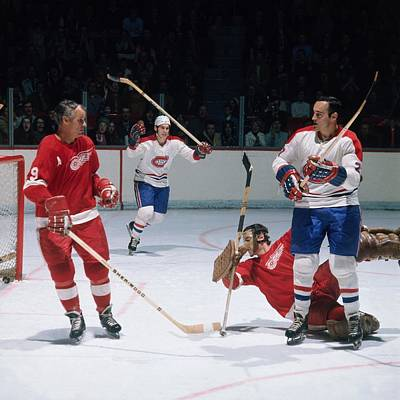 Photograph - Detroit Red Wings V Montreal Canadiens by Denis Brodeur